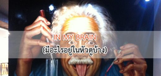 IN MY BRAIN (มีอะไรอยู่ในหัวตูบ้าง)