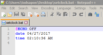 คำสั่งในการ Set คอมพิวเตอร์