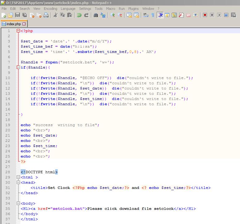 Code PHP ที่ผมเขียน Gen .bat file ด้วย PHP