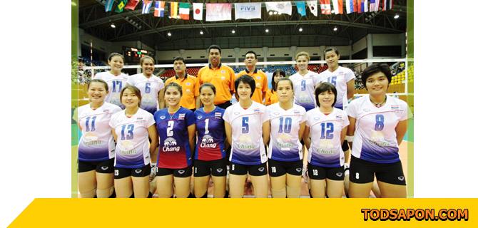 ทีมวอลเลย์บอลหญิงไทย ที่สร้างประวัติศาสตร์ ได้อันดับที่ 6 ของโลกใน เวิลด์ กรังด์ปรีซ์ 2011